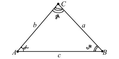 Стандартные обозначения треугольника
